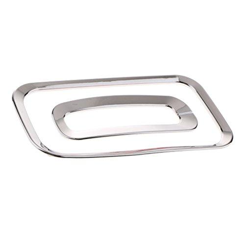 F Fityle Aluminium Schaltknauf Box Panel Abdeckung Schalthebel Rahmen Abdeckung Für Auto - Silber