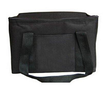 cooler bag - isolierung große mahlzeit essen picknick - paket - thermische isolierte wasserdichte tasche Schwarz