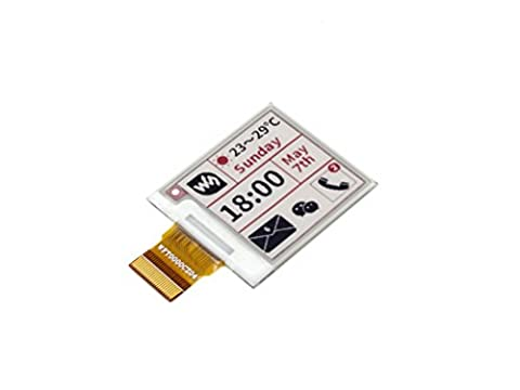 Waveshare 1.54 Inch E-paper Raw Display Panel(B) 200x200 Resolution 3.3v E-Ink Electronic Paper Screen without PCB Support Red Black and White Three-color Display with Embedded Controller ,Communicating via SPI interface