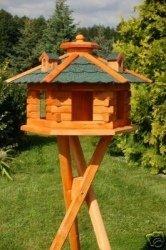 Vogelhaus mit Ständer grün