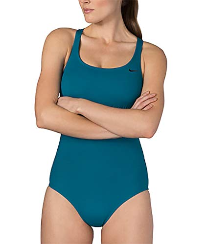 Nike Damen Solid Epic Racerback Einteiler - Mehrfarbig - Large - Damen Nike Badeanzug