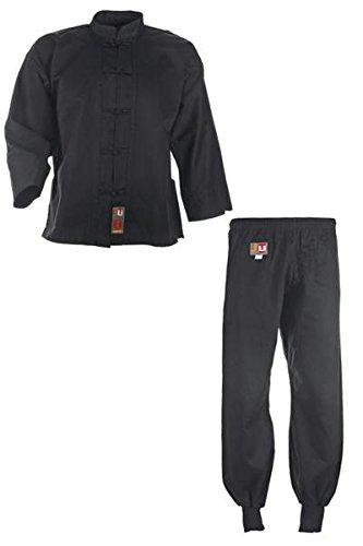Kung Fu Anzug, Tai Chi, WU SHU NEU schwarz Baumwolle, 9501, Gr. 170