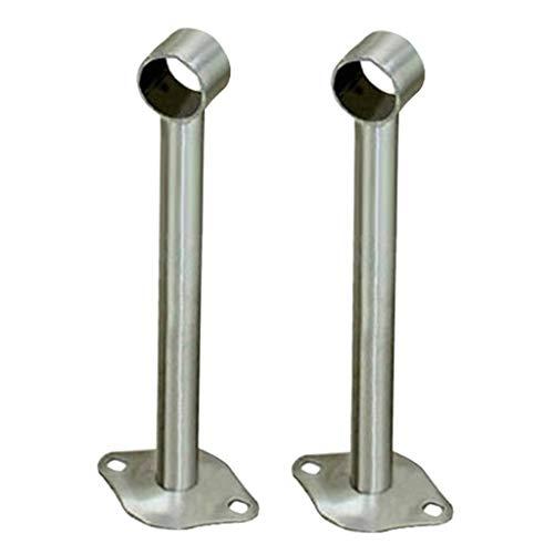 2pcs Edelstahl Stangenhalter Deckenhalter Deckenhalterung für Kleiderstange Vorhangstange Gardinenstangen - 200 mm