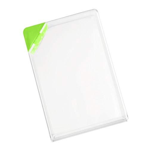 Zihuist Tragbare Wasserflasche Paper Pad Wasserflasche Flach Getränke Cup Kettle - 400-500ml Klar Buchform (Pink) Wasserflasche (Color : Green)