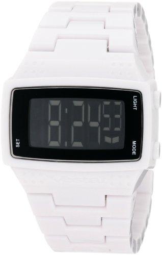Vestal Unisex Digital Dolby Plastic White/Polish Wrist Watch Dbpc001
