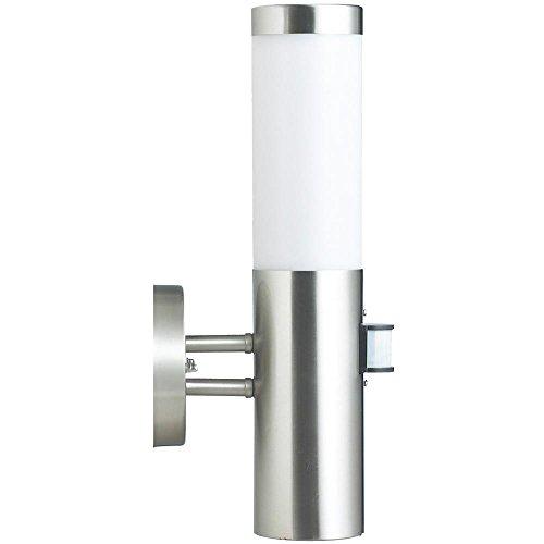 Wand Außen Leuchte silber IP44 Terrasse Sensor Lampe 1-flammig E27 Hilight 103107