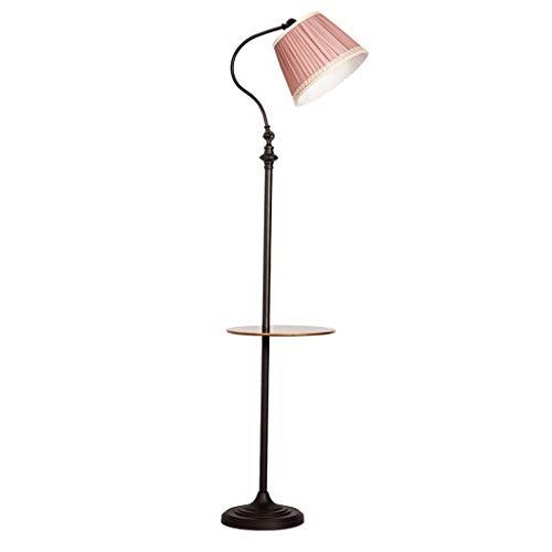 Lampadaire Nordic Lampadaire Salon Canapé Lampadaire Simple American Lampe de table Lampadaire Vertical Chambre Lampe De Chevet (Color : Pink)