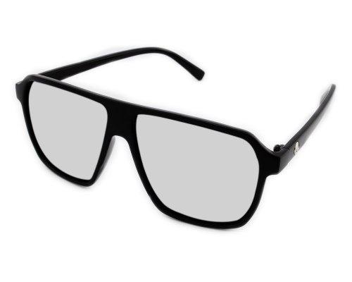 Preisvergleich Produktbild Damen Sonnenbrille Brillengestell Herren Nerd brille ohne stärke lesebrille Schädel Silber