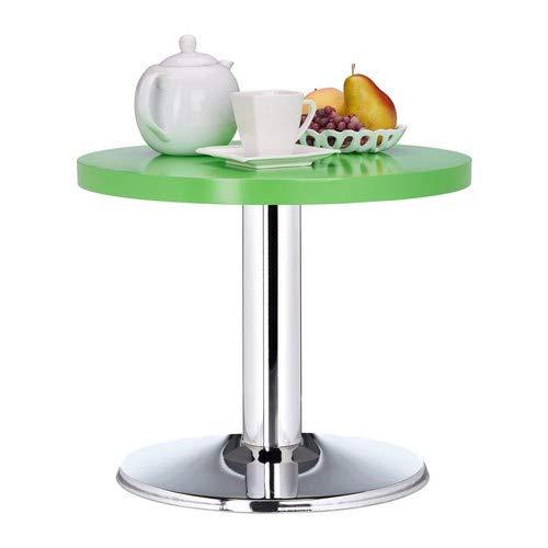 Relaxdays tavolino da salotto rotondo, decorativo, per bambini, verde, legno mdf, hxd: 41 x 50 cm