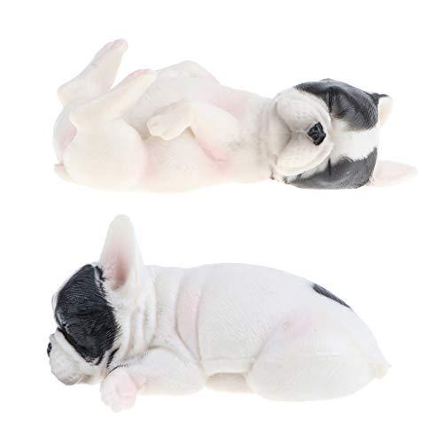 2 figuras de Cachorro de bulldog francés