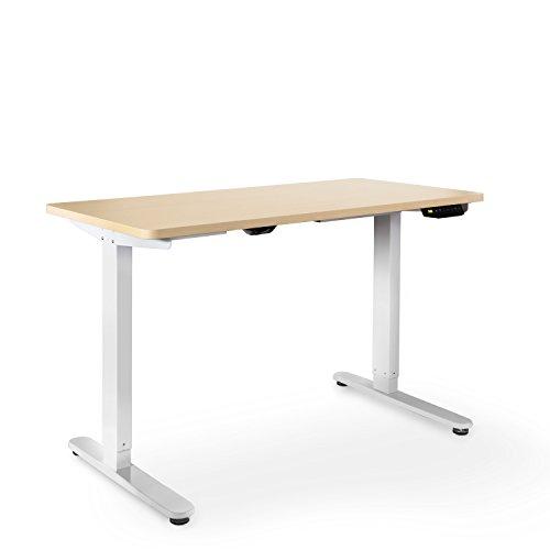 eSmart Germany elektrisch höhenverstellbarer Schreibtisch | Mit Holz-Tischplatte aus Ahorn Dekor...