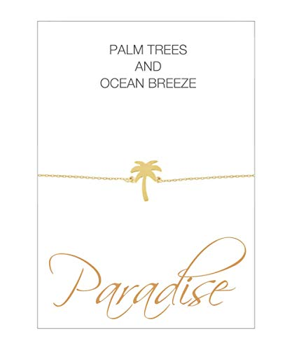 HERZ-KARTE Armband Palme Gold 925/- Sterlingsilber