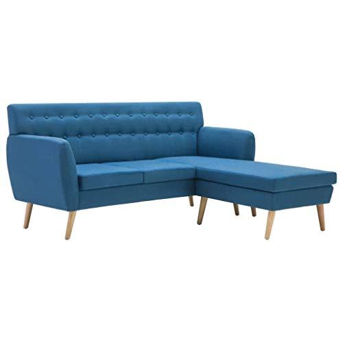 Festnight divano angolare moderno con penisola in tessuto per salotto soggiorno e ufficio,divano moderno a l rivestimento in tessuto con penisola 171,5x138x81,5 cm