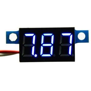 DROK® Voltmetro digitale DC 3.3-30V tensione Super Meter ad alta luminosità LED blu Visualizza Ultra Small Volt Tester Monitor con inversione di polarità di collegamento per auto Auto Moto Automobile