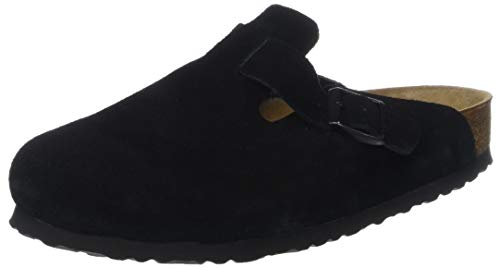 BIRKENSTOCK Hommes Boston Clogs, Noir Black, 45 EU Birkenstock Clog Black Suede