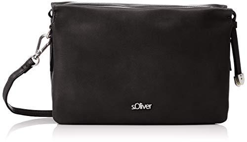 s.Oliver (Bags Damen 38.899.94.3690 Umhängetasche, Schwarz (Black), 7x16x23 cm