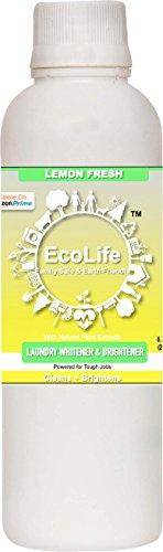 ECOLIFE 100% Natural Laundry Whitener Brightener, Lemon Fresh (200ml)