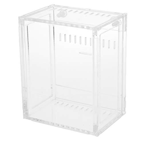 perfk Acryl Terrarium Zuchtbox Fütterungsbox für Reptilien, 10,5x8,5x6cm