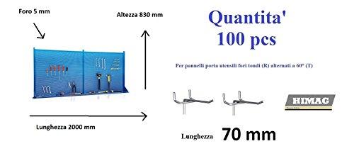Preisvergleich Produktbild Panel-Werkzeug für Werkstatt mit Wandboard 2 Meter mit 100 Haken