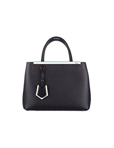 Fendi Damen 8Bh2533wlf06m0-Mcf Schwarz Leder - Schwarz Handtaschen Fendi