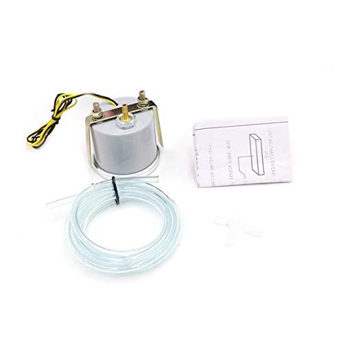 Vakuum-objektiv (CNSPEED 12 V Auto Auto LED Digital Vakuum Presslehre Meter 52mm Rauch Objektiv für Universal Auto Modifikation Reparatur (Farbe: Schwarz))