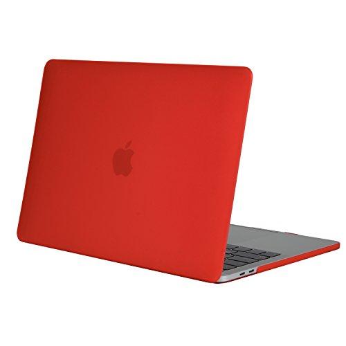 MOSISO MacBook Pro 15 Hülle 2017 & 2016 Freisetzung A1707 - Ultra Slim Hochwertige Plastik Hartschale Tasche Schutzhülle Snap Case für Neueste MacBook Pro 15 Zoll mit Touch Bar und Touch ID, Rot (Macbook Pro 15in Shell)