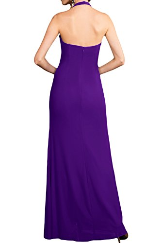 TOSKANA BRAUT Bezaubernd Neckholder Chiffon Abendkleider Lang Brautjungfern Fest Ballkleider Royal Blau