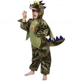 (Dinosaurier Fancy Kostüm Halloween Kinderkostüm Gr.-Medium-/5-6 Jahre, Grün)