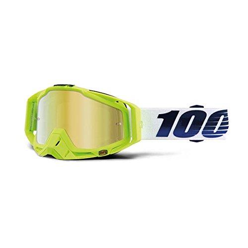 100-Maschera-Racecraft-Gp21-Lente-a-Specchio-Oro-Multicolore-Taglia-Unica