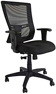 Mahmayi Mesh/Metal Isu 95551 Low Back Ergonomic Chair, TA95551LBBL, Black, H 110 x W 50 x D 46 cm