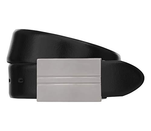 LLOYD Men's Belts Gürtel Herrengürtel Ledergürtel Koppelschließe Schwarz 6597, Länge:100, Farbe:Schwarz