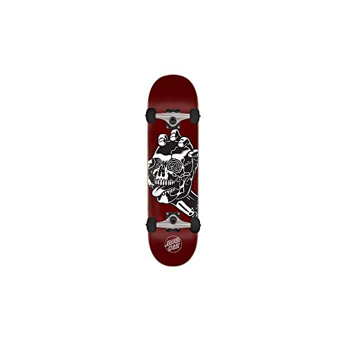 Santa Cruz Rot Screaming Skull - 8.25 Inch Skateboard Komplett (One Size, Rot)