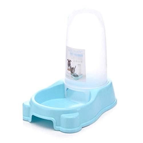 Stark Pet Bowl mit automatischer Wasserflasche, Pet Food Water Bowl Feeder, mit rutschfestem und rutschfestem Boden, geeignet für kleine und mittlere Hunde und Katzen Sauber (Color : Blue) -