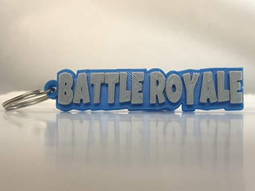 Battle Royale - Llavero, Color Gris y Azul