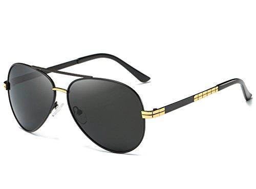 Dollger Herren Klassischen Pilot Polarisierten Sonnenbrille Militär Original Metall Temple Design