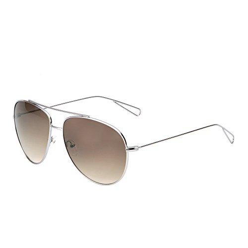 Oversized Round Sunglasses Men Women Double Bridge Hollow Temple Tips UV400