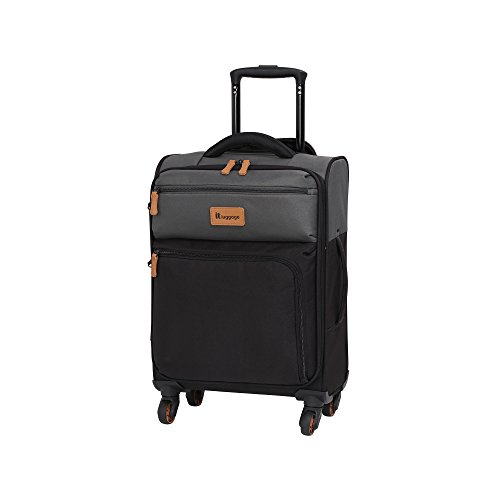 it luggage Duotone The Lite 4 Wheel Lightweight Suitcase Cabin Koffer, 53 cm, 34 liters, Grau (Charcoal Grey + Black)