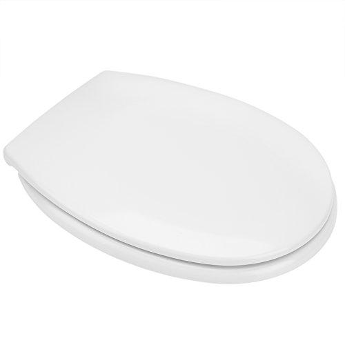 DEUBA WC Toilettendeckel Absenkautomatik   Klodeckel mit Edelstahlscharnieren   Toilettensitz Duroplast   inkl. Montagematerial