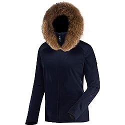 Duvillard PENIA JKT VF Veste de Ski Femme, Dark Navy, FR : M (Taille Fabricant : 40)