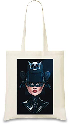 Freestyle Designs Super-Mädchen - Supergirl Custom Printed Tote Bag| 100% Soft Cotton| Natural Color & Eco-Friendly| Unique, Re-Usable & Stylish Handbag For Every Day Use| Custom Shoulder Bags By