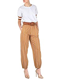 Giallo Pantalone 100 Donna Amazon 200 Eur it Abbigliamento 4EvqBwxg