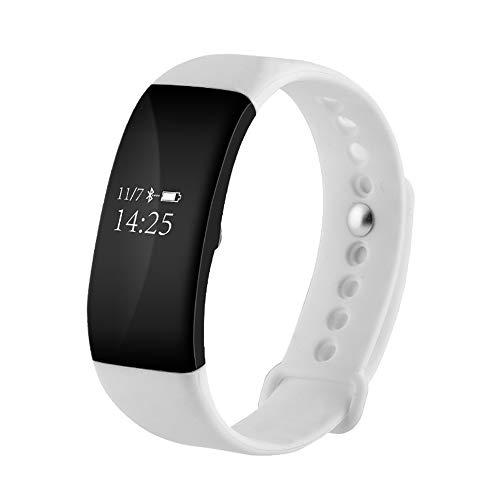 Niocase Smart Armband Fitness Tracker, Sport Armband Touch Smart Armband mit Pulsmesser Schlaf Monitor Schrittzähler Kalorienzähler für Kinder Frauen Kinder Männer Weiß