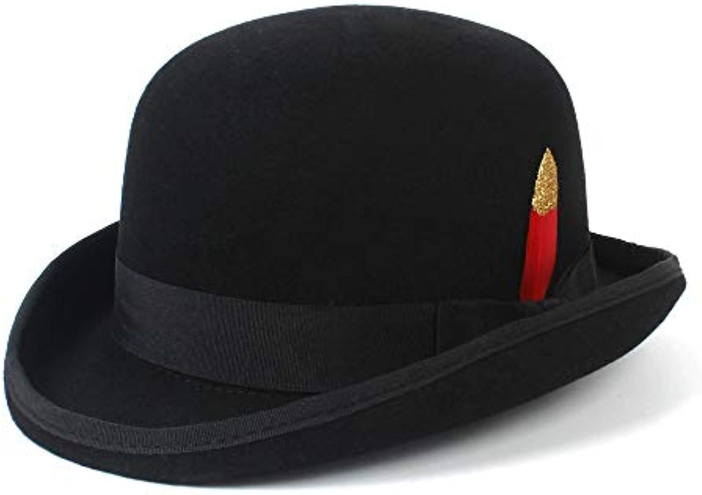 XZP Cappello da Baseball di Moda a in Lana Cappello a Moda Cupola floscio  con Fedora 6ebb7f4adad5