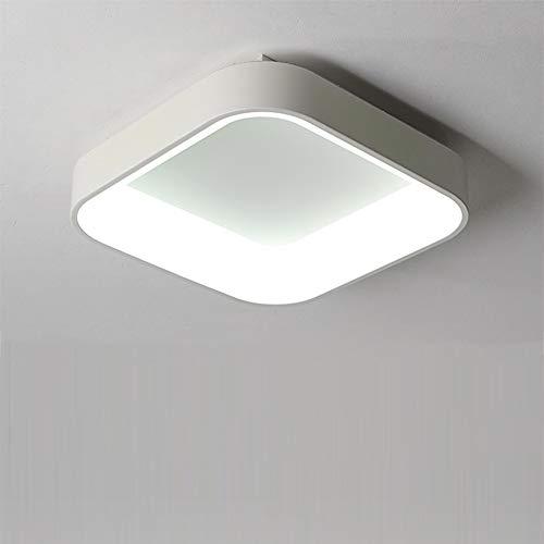 Schlafzimmer Deckenleuchte, moderne quadratische kreative Persönlichkeit Deckenlampe, eingebauter Montagemetall Pendelleuchte, verwendbar für Wohnzimmer-Esszimmer Hängeleuchte,White,17.7in