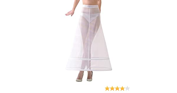 Lacey Bell Femme Jupon Maxi Elegante Fermeture a Scratch pour Robe de Mariee P3-220