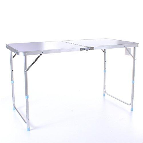 Marko Outdoor 4ft Aluminium verstellbar zusammenklappbar Tragbarer Camping Tisch Party BBQ...