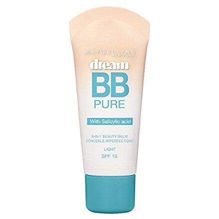Maybelline Dream Pure BB - cremas faciales BB & CC (Piel Iluminada, Mujeres, Piel grasosa, Francia)