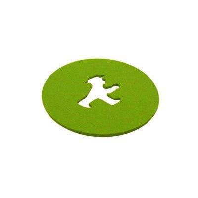 Filzuntersetzer DRUNTERSETZER Klein Geher grün von Ampelmann