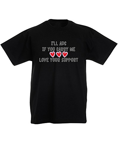love-your-support-enfant-t-shirt-imprime-noir-blanc-transfert-12-13-ans