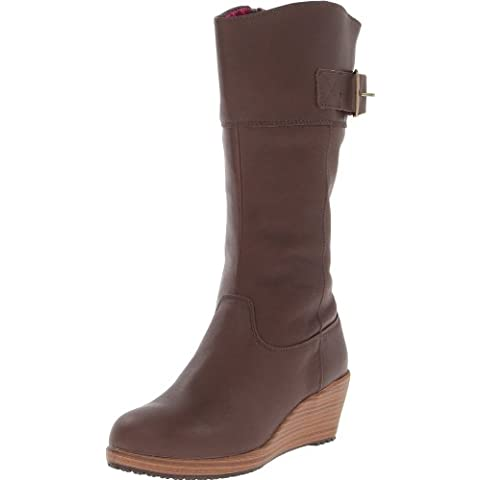 Crocs A-Leigh Leather Boot W - Botas de cuero mujer